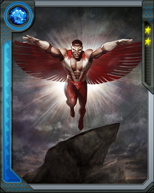 As Falcon, he has fought many battles alongside Captain America as well as becoming a valued member of the Avengers.  He uses his flight abilities along with trusted companion Redwing to good effect.