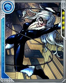 Black Cat has used a wide variety of different devices over the years to help her in her criminal (and occasionally heroic) endeavors. One of the most unusual devices she possesses is a pair of earrings that assist her in keeping her balance when she's performing acrobatics or falling long distances.