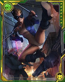 Mockingbird is trained to near-perfection in combat skills with her bo staffs. She also has a PhD in biology, which comes in handy more often than one might expect on S.H.I.E.L.D. missions.