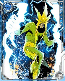 With the Avengers on their trail, the Sinister Six lured the heroes into an ambush on the coast of the Mediterranean Sea. There Electro took on Thor, which turned out to be a mistake when Thor used Mjolnir to blast Electro up into the upper atmosphere.