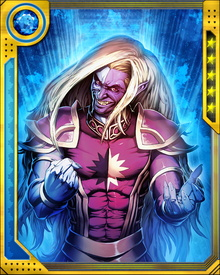 Leader of the Dark Elves, Malekith has allied with Loki and the fire demon Surtur to fight Thor and other Asgardians, with Earth as the battlefield. He is a powerful sorcerer and commands the armies of Svartalfheim.