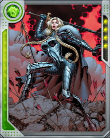 Valkyrie fights with a weapon and steed given to her by other heroes: the winged horse Aragorn was a gift from Black Knight and her sword Dragonfang was presented to her by Dr. Strange.