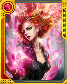 Unable to adapt to the enormous power of the of the Phoenix Force, Jean become corrupted by the manipulations of her enemies such as Mastermind and Emma Frost. She eventually was driven insane and became the Dark Phoenix.