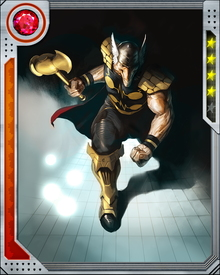 Beta-Ray Bill clashed with the Silver Surfer when Bill decided to destroy planets Galactus had targeted in an attempt to starve Galactus. Eventually Bill's actions made him unworthy of Stormbreaker until he repented and changed course.