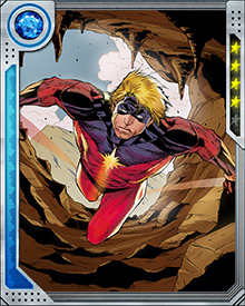 While doing reconnaissance on earth, Mar-Vell witnessed the death of Dr. Walter Lawson, a human with whom he bore a strong resemblance. Mar-Vell took advantage of this and assumed his identity. While fending off a Sentry sent to kill him, onlookers misinterpreted the words of the Sentry and proclaimed him to be Captain Marvel.