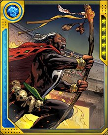 Doctor Voodoo's staff is one focus of his powers, imbued with all the magical energy he draws from the Loas and from the spirit of his brother Daniel. And when the situation calls for might more than magic, he can also knock someone's teeth out with it.