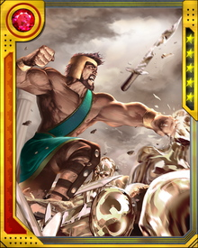 During Civil War, Hercules was a leader of the anti-registration forces. His most memorable moment of the conflict was when he took up the hammer of the cyborg Thor clone known as Ragnarok and destroyed it... albeit too late to save Goliath.