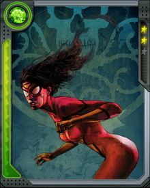 With her metabolism, Spider-Woman generates pheromones that attract men and repulses woman.