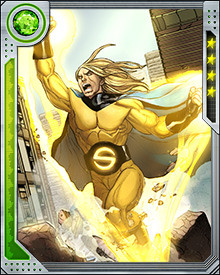One of the Sentry's powers is the constant projection of a golden aura that soothes and comforts his allies, making it more difficult for them to be overcome by their own rage or hopelessness. This came in particularly useful on a series of adventures the Sentry and the Hulk took together.