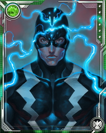 Black Bolt sacrificed the city of Attilan to protect Thane, the last surviving son of Thanos, and unleash the Terrigen Mists that caused Thane's powers to manifest. He and the other Inhumans stand with S.H.I.E.L.D. and the Avengers against Thanos and the Cull Obsidian.