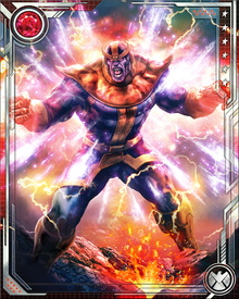 "During the Annihilation War, Thanos was actually killed by Drax the Destroyer and was reunited with his beloved Mistress Death but was eventually resurrected by her ""sibling,"" Oblivion."