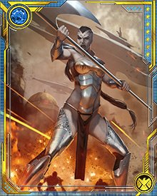 The Old Power allowed Caiera to draw the strength and durability of the planet of Sakaar into her own body.