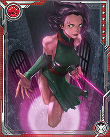 Blink first came to the attention of the X-Men when she was captured by the extraterrestrial Phalanx, who tried to assimilate and duplicate her powers. She fought free of the Phalanx, destroying the Phalanx entity called Harvest, but she remained extremely nervous about using her powers until extensive training gave her more control over them.