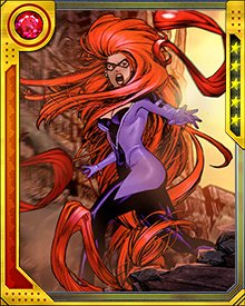 Medusa served as the Invisible Woman's replacement in the new version of the Fantastic Four while the originals were lost. But when they returned, she was glad to be Queen of the Inhumans once more.
