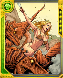 Her adventures with Ka-Zar and Zabu continue, keeping the denizens of the Savage Land safe from exploitation by outside forces.