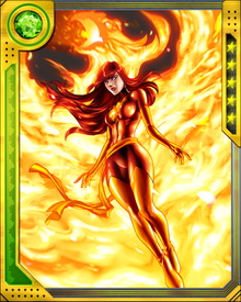 The Phoenix Force is an immortal and mutable manifestation of the prime universal force of life and passion. Born of the void between states of being, the Phoenix Force is a child of the universe. It is the nexus of all psionic energy which does, has, and ever will exist in all realities of the omniverse.