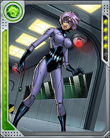 Diamondback trained with Taskmaster after being attacked by a street thug who would later become the villain known as Crossbones. Throughout her training, she learned many combat skills, but found that she excelled at throwing objects with extreme accuracy.