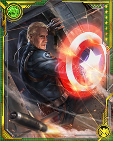 Along with the Captain America identity, Steve Rogers gave up his shield and has instead taken to using a high-tech energy-generated shield. You know, just 'cos he can.