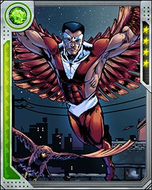 Falcon's closest ally isn't a fellow super hero. It's the falcon he calls Redwing, with whom Falcon shares a perfect psychic bond. He not only sees what Redwing sees, his mind is joined with Redwing's. Falcon can tap the sense of all birds, but Redwing is an extension of his own consciousness.