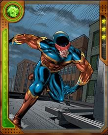 Wishing to create a team of superhumans to battle the Avengers, the cosmic entity known as the Grandmaster empowered a group of villains with incredible gifts. They became the Squadron Sinister. Among the Squadron was a speedster called The Whizzer. After numerous defeats at the hands of the Avengers and the Defenders, the Whizzer struck out on his own, changing his costume and adopting a new name—Speed Demon!