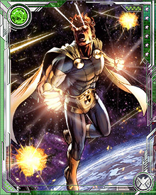 Hyperion fought AIM when their scientists tried to learn the secrets of the Origin Bombs in the Savage Land. He has seen universes collapse around him, and he doesn't want to see it again.