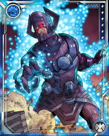 "Galactus possesses the immeasurable and almost limitless God-like Power Cosmic and is one of the absolute strongest and most powerful beings in the universe. He has even been referred to as ""the most awesome living entity in the cosmos."""