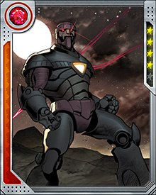 During the Red Onslaught's World War Hate, Tony Stark was manipulated into creating a new class of Sentinels, equipped with Stark's own information on every super hero's powers and vulnerabilities.