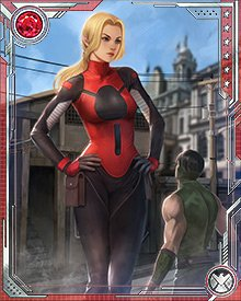 Cassandra Lang, daughter of Ant-Man Scott Lang, has similar powers as her father. She can increase or decrease her size much as he can. She has no command over insects, however, and no real desire to establish it. She has been a member of the Young Avengers since Civil War, and hopes to become a full Avenger someday.