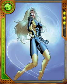 Former Thunderbolt Karla Sofen was recruited by Norman Osborn to join his Dark Avengers after the real Ms. Marvel rebuked him. She would become his Dark Ms. Marvel, joining him as a member of his twisted team against such opponents as Morgana Le Fey, A.I.M. and the Absorbing Man.