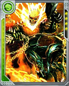 You might think Ghost Rider needs his bike to take the fight to the bad guys. And it's true that he prefers shooting on wheels. But Ghost Rider on foot is still more than most villains can handle, because Ghost Rider on foot still has the chains and the fire and the Penance Stare.