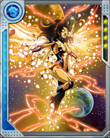 Suzi Endo would eventually be infused with the Power Cosmic by the High Evolutionary and recruited to become his herald. Thus she became an entirely new being—the Seeker—who's new mission would be to seek out dead planets which the Evolutionary could then bring back to life.
