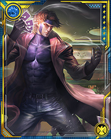 Gambit is a sly thief, but his good looks, devilish charm, roughish wit, and dangerous smoothness have helped him steal more than a few hearts from friends, enemies, and allies alike.