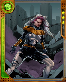 Originally debuting as the villainess Screaming Mimi and serving as a both a member of the Grapplers and the Masters of Evil, Melissa Gold has since reformed in her guise as Songbird, most notably as a frequent member of the reformed villains team, the Thunderbolts.