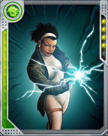 New Orleans harbor patrol officer Monica Rambeau was infused with extradimensional energies from an experimental weapon and gained the ability to transform herself into any form of electromagnetic energy.
