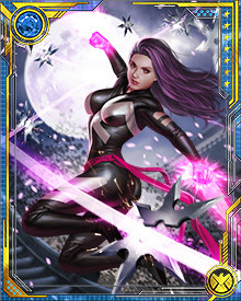 Psylocke's full potential was released by the Jean Grey from another timeline, and now her psionic powers rival those of any other human.  She has powers of suggestion and telepathy in addition to her previous ability to concentrate telekinetic energy into the form of psychic blades.