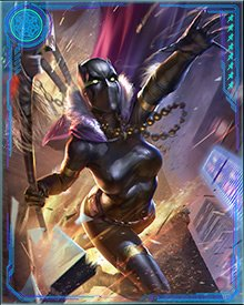 Shuri was a gifted fighter, however, and when T'Challa was called upon by Bast to rule the Necropolis, she assumed the Wakandan throne.