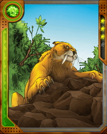 The sabretooth tiger Zabu was briefly raised by wolves after his parents were killed by Savage Land humans. His life was later saved by Kevin Plunder, who became known as Ka-Zar, and Zabu became his loyal companion.