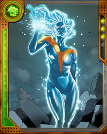 Hallie Takahama survived a series of cruel experiments at the hands of Arnim Zola and lived to tell the tale, and seek revenge. Zola's experiments began a process that at first gave her the power to discharge powerful bolts of bio-electricity.