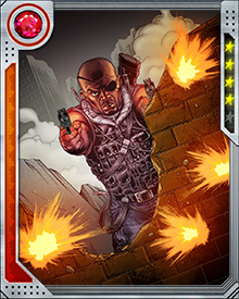 Even though S.H.I.E.L.D. has been battered by recent events, Nick Fury hasn't lost his belief in the organization's goals. With a band of diehards, he keeps fighting the good fight, and he's got a superb instinct for the moment to strike an enemy and do the most damage.