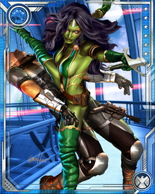Gamora is known as the deadliest woman in the galaxy, but she has also had her share of trauma. She lets few people get close to her, but she has fallen in love at different times with Adam Warlock and Nova.