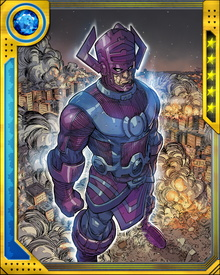 Galactus was originally the explorer Galan from the pre-Big Bang universe planet known as Taa. When all other life in his universe was destroyed, he became engulfed in the Big Crunch. Instead of dying, he was transformed, gestating for billions of years in the next universe that formed after the Big Bang, emerging as Galactus