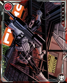 The Punisher has amassed a huge arsenal of firearms and explosives, but one of his favorite weapons is the classic military knife known as the K-Bar.