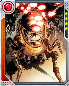 His greatest weakness though is that his mutated body doesn't last long. In order to extend his life, MODOK  has created a veritable army of clones. He separates the brain from the body to prevent any of his clones from challenging his superiority. When his current body begins to burn itself out, he harvests parts from the clones to rejuvenate himself.