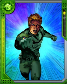 Soldier Joe Ledger came into contact with the Power Prism while searching an alien spacecraft, which turned out to be of Skrull origin. It granted him powers across multiple spectra of light and radiation, ranging from energy projection to flight and the ability to survive in a vacuum. The Power Prism's one weakness-and therefore Doctor Spectrum's weakness-is ultraviolet light.