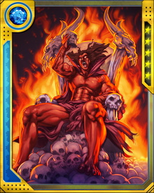 Mephisto is a perennial villain in the Marvel Universe, responsible for a number of evil acts. He has terrorized Victor Von Doom, Scarlet Witch, and Hawkeye. He even created the Ghost Rider entity.