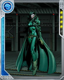 Also known as the Viper, Madame Hydra is expert in the use of poisons and more broadly, anything that can be used to kill. She is also fabulously wealthy after a lifetime of organized crime and can call on virtually unlimited resources.