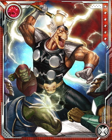Beta Ray Bill has powers and physical attributes similar to Thor's, which augment his already powerful cyborg body. He possesses incredible superhuman strength, near invulnerability, and is virtually immortal.