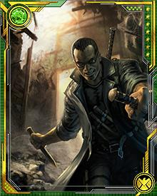 As his undead foes became more cunning and dangerous, Blade upgraded his arsenal to include silver-bladed weapons, a double-edged sword, flamethrowers, machine guns, UV light, and grenades.