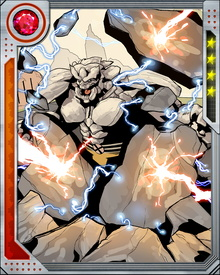 Beast has theorized that the different forms of Rockslide's body might indicate that the true Rockslide is a psychic entity creating different stone bodies for itself.