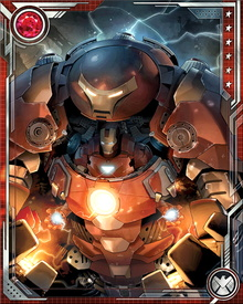 During the so-called World War Hulk, Tony Stark designed a new Hulkbuster armor, in order to battle the Hulk upon his return from space. Initially, Stark was even able to hold his own against the green goliath.
